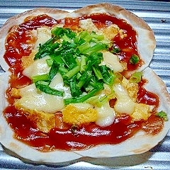 余った餃子の皮de☆大きなピザ