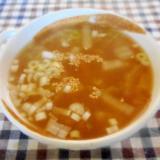 干しエビと白菜とネギのスープ