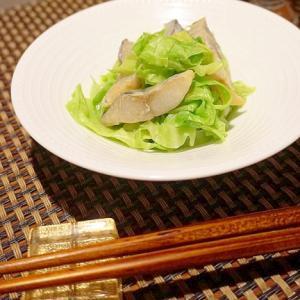 日本酒にワインに、〆鰆とキャベツの粒マスタード和え