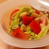 夏野菜とお豆の簡単サラダ