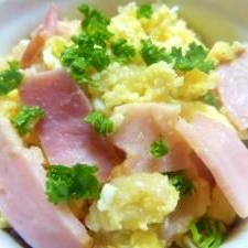 もちもち(^▼^)☝「じゃがいもの炒り卵」