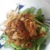 豆苗と揚げレンコンのサラダ