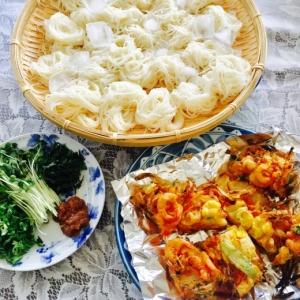 練り梅でサッパリ♡冷たい素麺