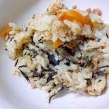 鯖缶とひじきの炊き込みご飯