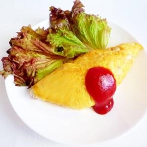 簡単&シンプル 挽肉とたまねぎのオムレツ