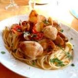 あさりとミニトマトのスパゲッティ