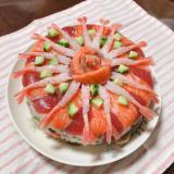 パーティーやお誕生日にぴったり!お寿司ケーキ♡
