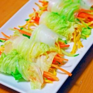 白菜で、野菜巻き巻き!