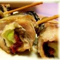秋刀魚の梅ロール