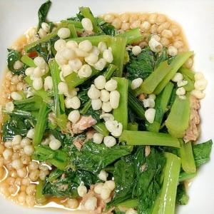 ツナ缶で♡小松菜と天かすのサッと煮