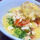納豆+白菜キムチ+天かす+卵(^-^)
