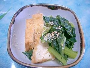 カルシウムたっぷり!!簡単小松菜と揚げの煮物