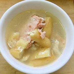 シャケのアラのスープ