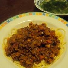 うちの定番!野菜たっぷりミートソーススパゲティ