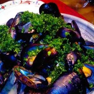 ムール貝の簡単ワイン蒸し
