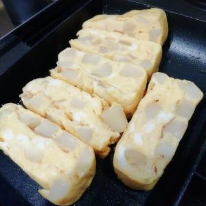残り物の肉じゃが活用★じゃが芋コロコロ卵焼き