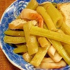 蕗の薹と栃尾揚げの煮物