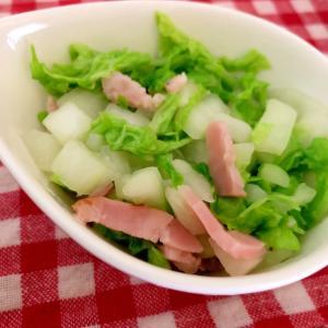 白菜とハム炒め☆