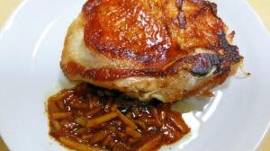 【鶏モモ肉】チキンソテーのマーマレードソース