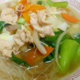 タンメン風 肉野菜炒め汁ビーフン