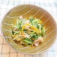 水菜と豚バラの煮浸し