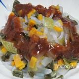 糸コンと野菜の酢味噌がけ 1391