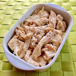 簡単!しっとり☆鶏むね肉のオリーブ油煮