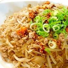 春雨とひき肉の中華風炒め物