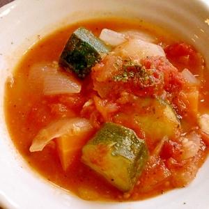 赤熟トマトで濃厚野菜スープ