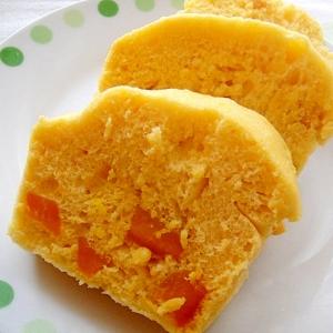 レンジで☆かぼちゃ蒸しパン