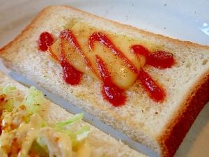 オレガノ/ケチャップで チーズトースト