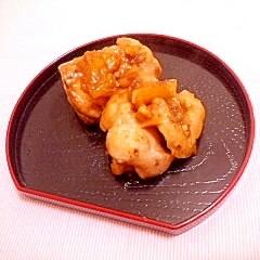柑橘風味♪ふっくら鶏ムネの照り焼き
