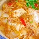 体ポカポカっ野菜たっぷり☆納豆辛味噌鍋