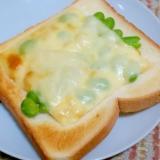 枝豆とコーンのチーズトースト!