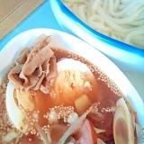 焼き豚(ハム)で作る、つけ麺、うどんバージョン
