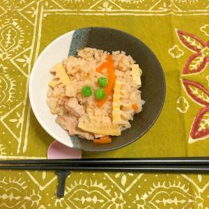 筍と鶏肉の炊き込みご飯♪