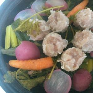 彩り野菜と焼売の蒸しもの