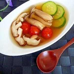夏野菜ときのこのスープ