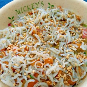 納豆の食べ方-めかぶ&ちりめんじゃこ♪