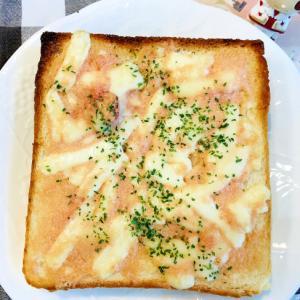 とろける、たらマヨチーズトースト