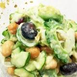 アボカドとゴーヤの栄養満点サラダ