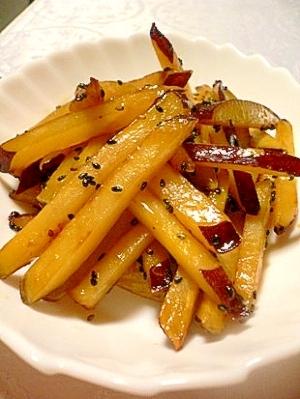 さつま芋のハチミツきんぴらスティック(レモン風味)
