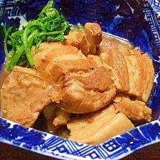 圧力鍋で☆豚バラブロック肉のマーマレード角煮