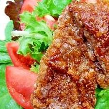安いランプ肉で竜田揚げ