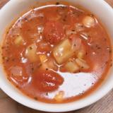 野菜たっぷり!ブロッコリーの芯入りトマトスープ☆