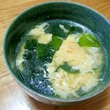たまごとワカメの中華スープ