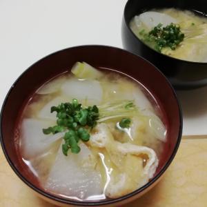 大根・長葱・油揚げ・ブロッコリースプラウトの味噌汁