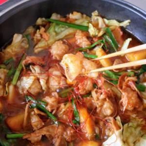 【楽天市場商品で作る】辛旨コチュジャン炒めもつ鍋