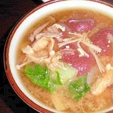 たかきび団子の味噌汁