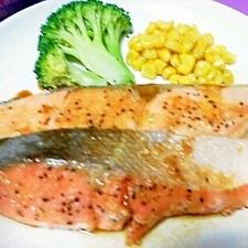 ☆鮭のガーリックバターソテー☆